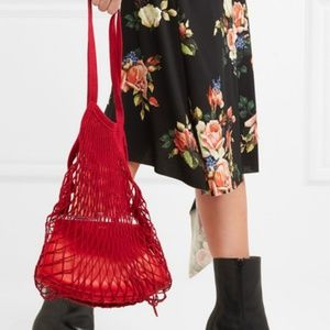 Handbags - French Cotton Market Net Tote/Bag/Red/Short Handle